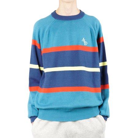 Aimé Leon Dore STRIPE MONOGRAM KNIT CREWNECK sweater - MIDNIGHT