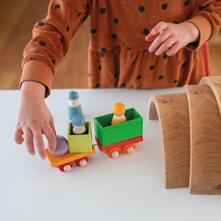 Grimm's Wooden Train Building Set