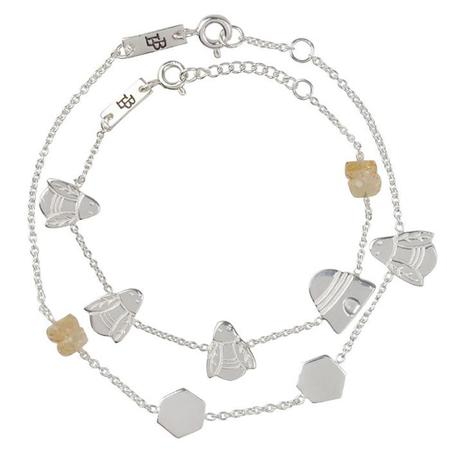 Advice From A Caterpillar Lennebelle Petites Woman And Child Bracelet Set Queen Bee - Silver