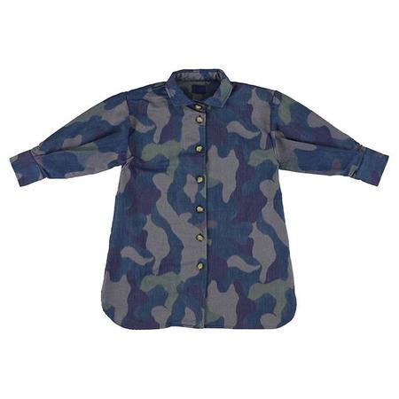 KIDS Morley Child Moon Shirt Camoflauge Dress - Navy Blue