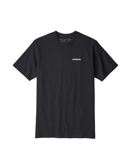 Patagonia Camiseta Logo P-6 Responsibili-Tee - Black