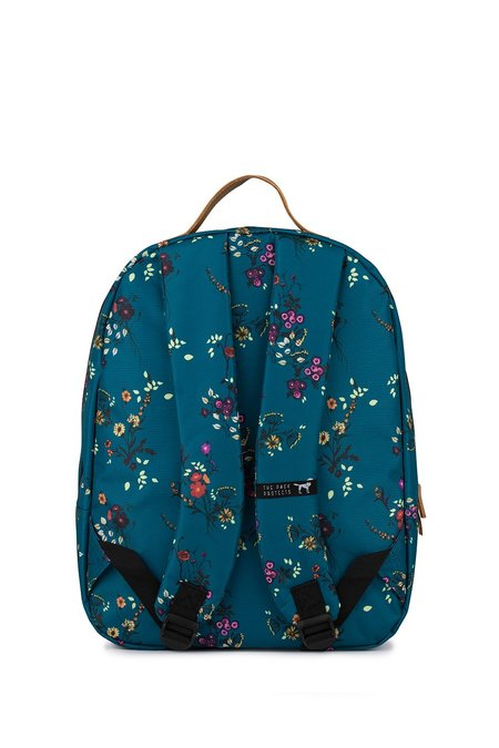 The Pack Society FLOWER ALLOVER CLASSIC BACKPACK - BLUE