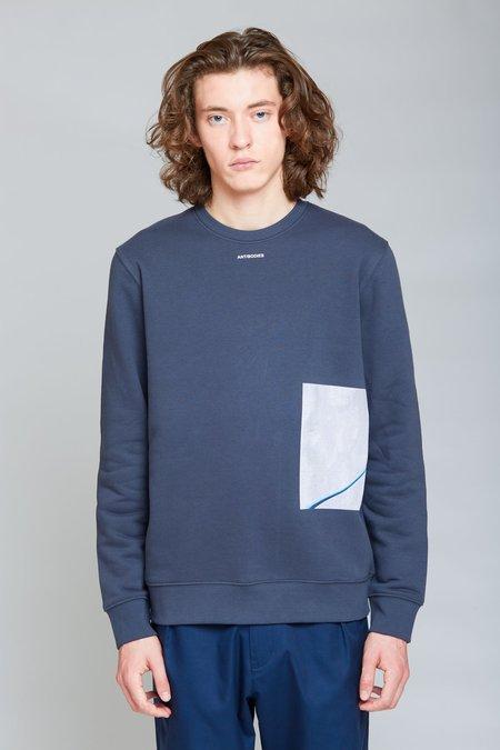 ANT/BODIES Petri Crewneck sweater - Ink Grey