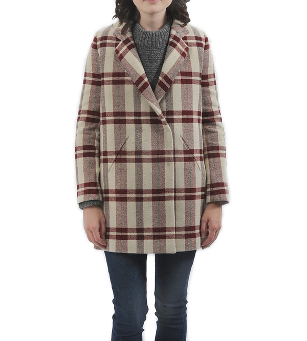 Nanushka Blanket Tweed Winter Coat