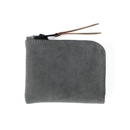 UNISEX MAKR Zip Luxe Wallet - Lead Horween® Suede