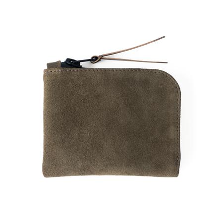 MAKR Smooth Moss Horween Zip Luxe Wallet - Olive