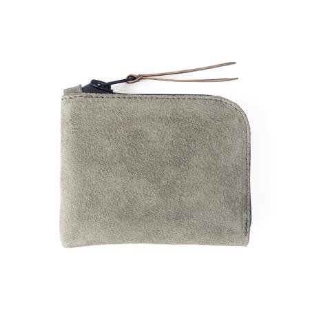 UNISEX MAKR Zip Luxe wallet - Shale Horween® Suede