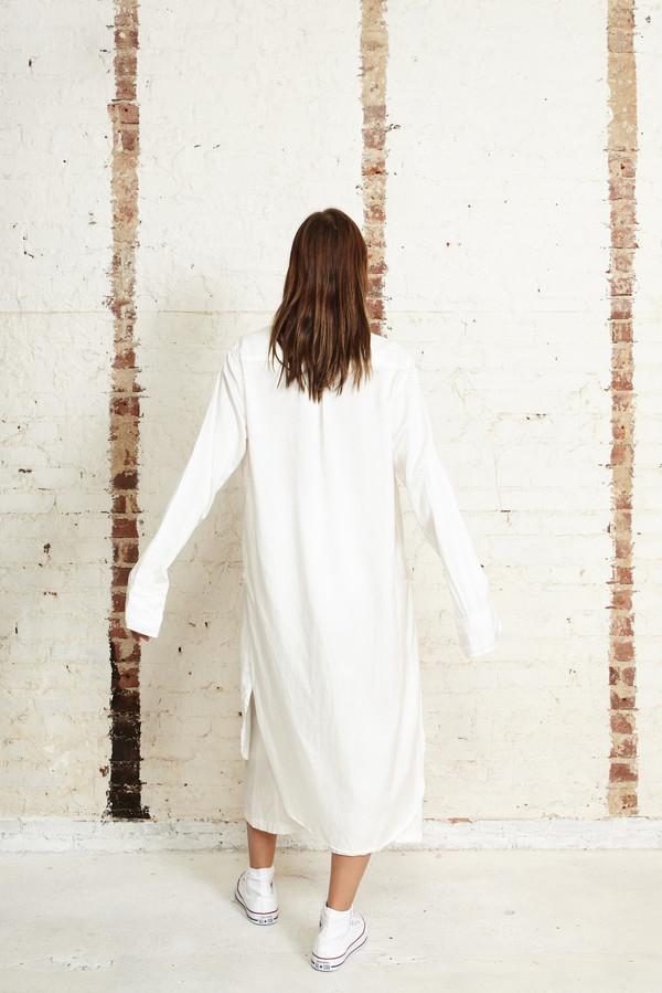 Off Season NYC Cosmos Tunic Silk Satin White