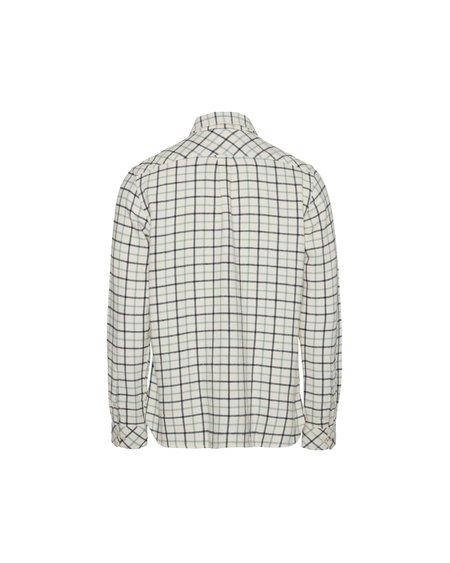 knowledge cotton apparel Camisa Larch Big Checked - Winter White