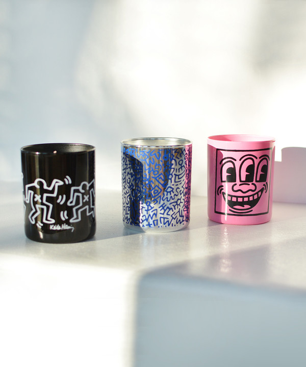 Linge Blanche Keith Haring Candle