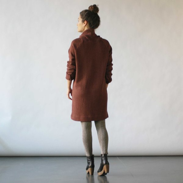 Curator Tempest Sweater Dress in Spice