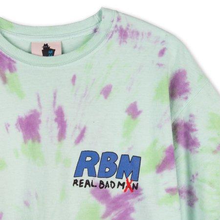 Realbadman Who Me T-shirt - Neon Green Tie Dye