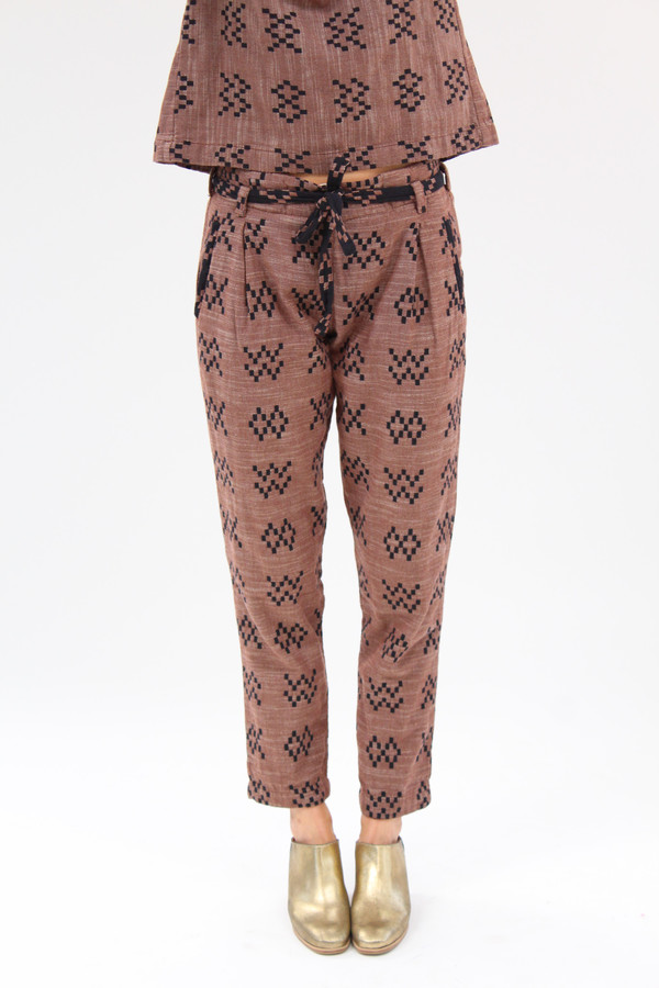 Ace & Jig Stafford Pant Sampler Brown