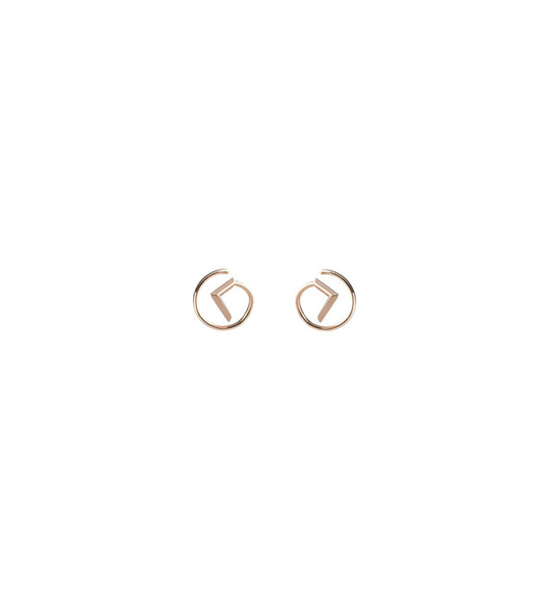 Maria Black Check Twirl Earring in Rose Gold