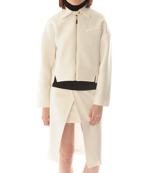 Shakuhachi China White Biker Jacket