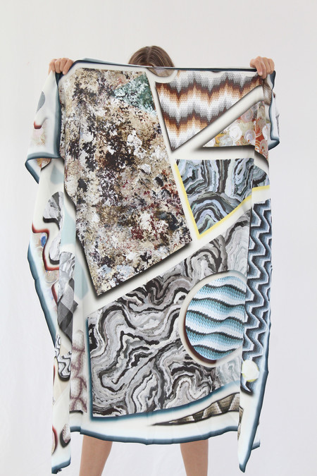 Hui Hui Painted Silk Scarf 217