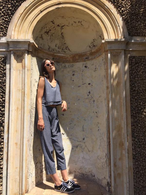 Lina Rennell Basic Pant Black Swiss Dot