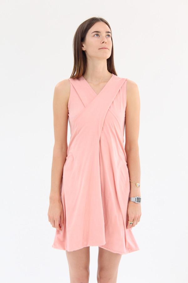 Beklina  Criss Cross Jersey Wrap Dress Shrimp
