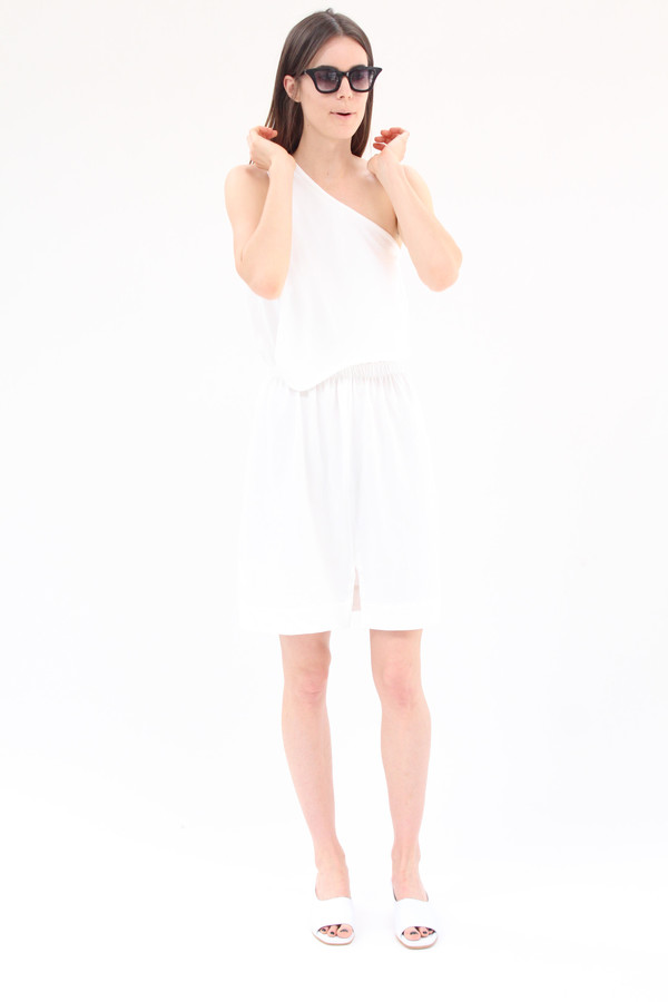 Beklina Falls Dress White