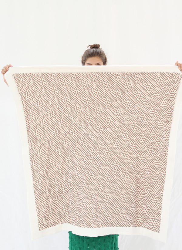 Beklina Organic Cotton Copper Triangle Throw