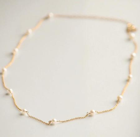 Little Hawk Pearl Necklace - Gold