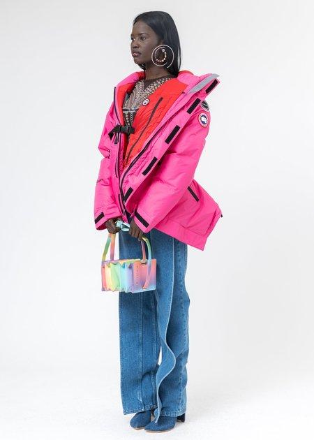 Y/project Canada Goose Edition Down Skreslet Jacket - pink