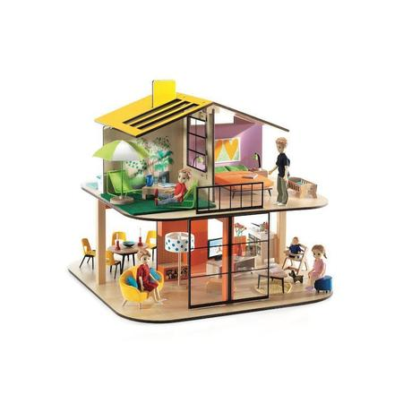 kids Djeco Color House Dollhouse