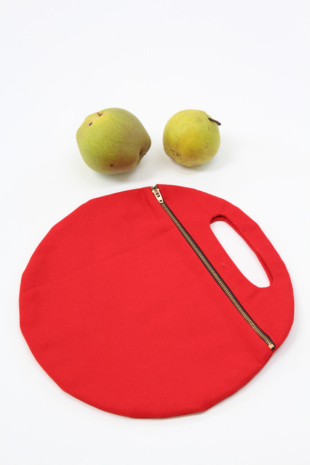 Lotfi Arches Circle Clutch Red