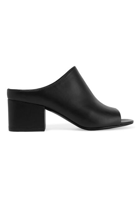 3.1 Phillip Lim Cube 55mm Open Toe Slip On Shoes - Black