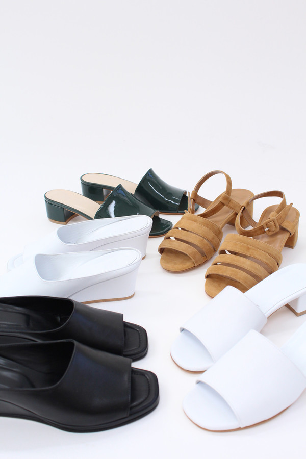 Maryam Nassir Zadeh MNZ Yves Wedge White