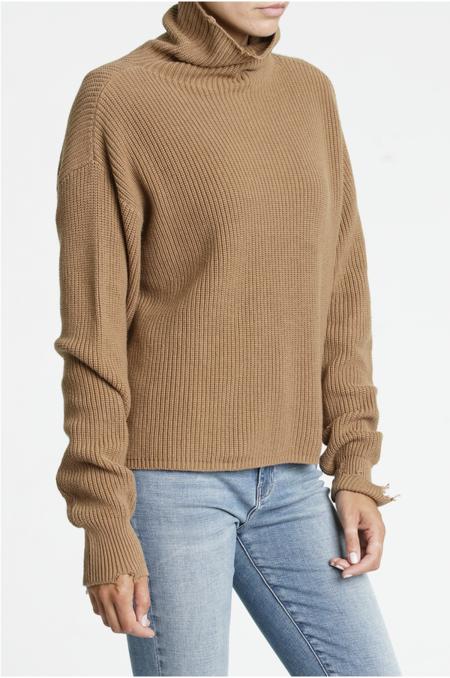 PISTOLA Brandy Turtleneck Pullover - Walnut
