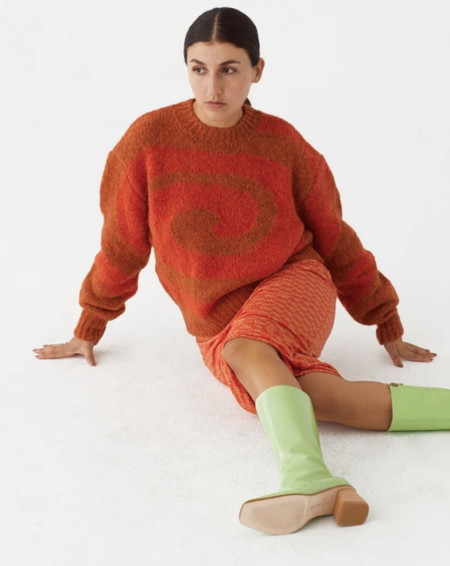 Paloma Wool Twister Sweater - Intense Orange