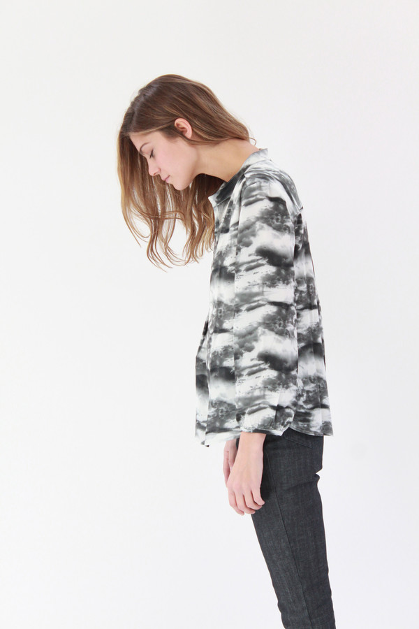 Podolls Pullover Blouse Cloud Print