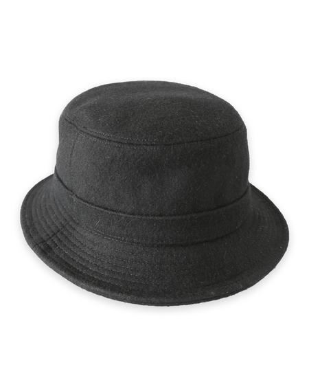 Corridor Melton Wool Bucket Hat - black