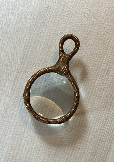 Thomas O'Brien Enrouler Magnifying Glass - Antique Brass/Glass