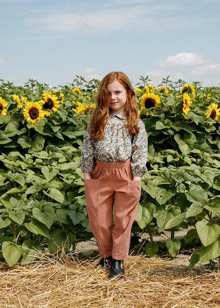 Kids Petits Vilains Esther Peter Pan Blouse - Poppy Forest