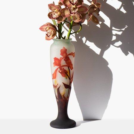 Kindred Black Muller Fréres Art Glass Vase