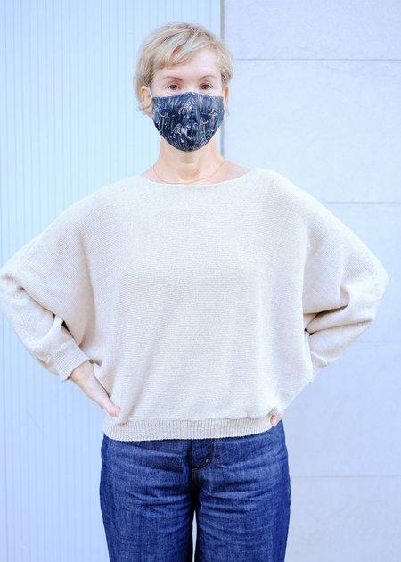 été noir Loose Sideways Knit Sweater - Marled Wheat