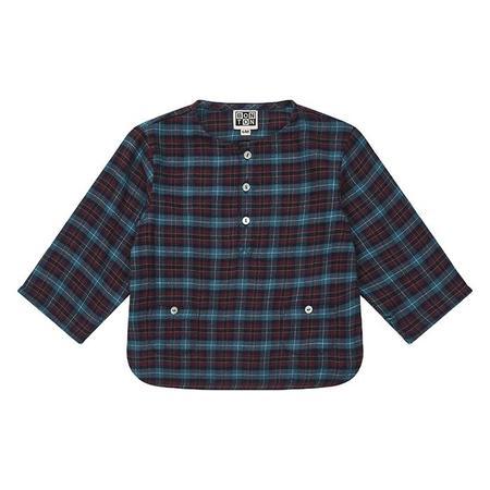 KIDS Bonton Baby Roc Shirt - Bordeaux Red Plaid