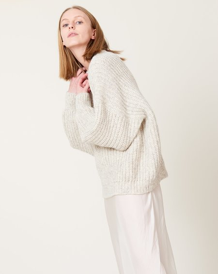 Lauren Manoogian New Fisherwoman Pullover - Natural Grey