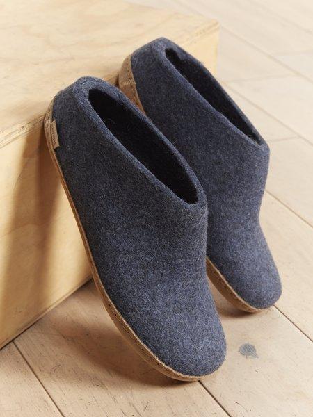 Glerups The Slip On in Leather - Denim Leather