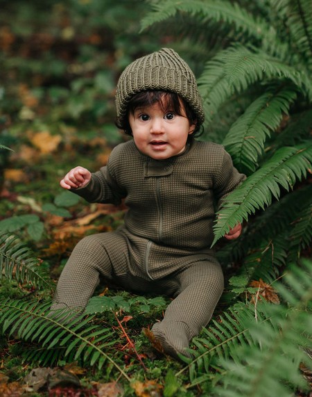 KIDS Noble Carriage Chunky Hand-Knit Beanie - Olive