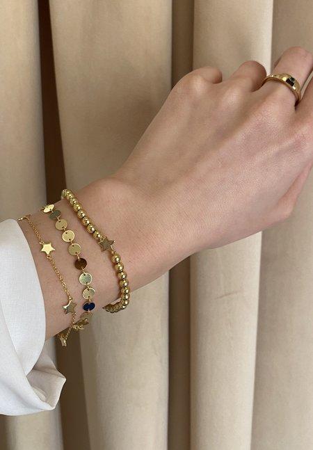 SS JEWELRY Circle Chain Bracelet - 14K Gold