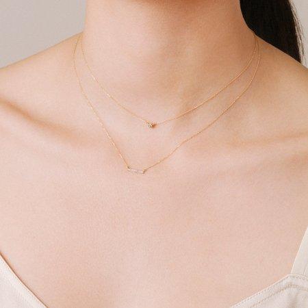 Adina Reyter Pavé Bar Necklace - Gold