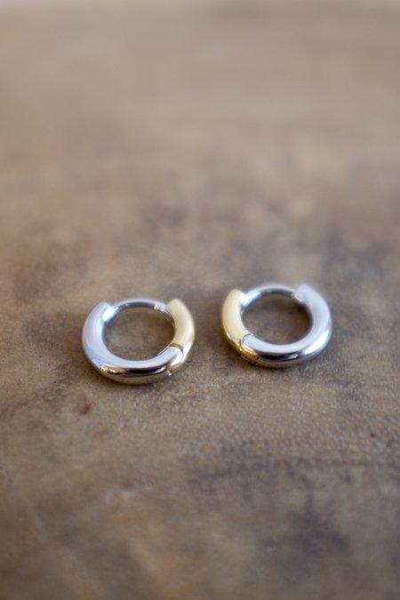 Machete Perfect Huggies - 14k gold plated/3/4 silver