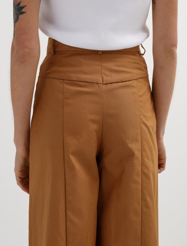 Etienne Deroeux Womens Dora Pants Parachute Brown
