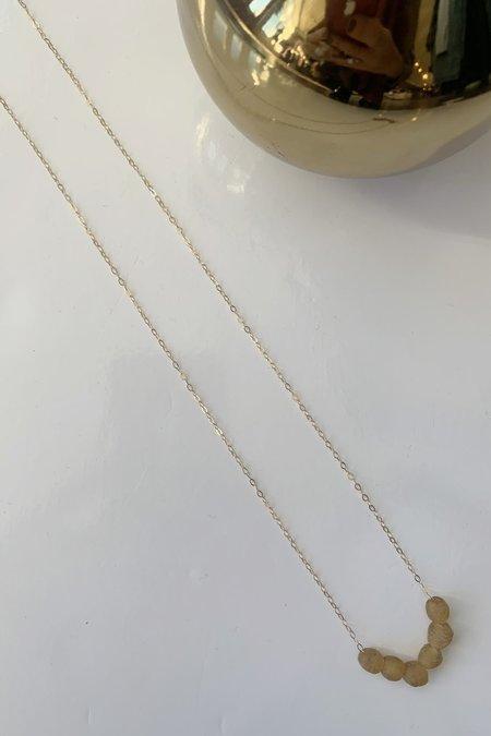 Spectrum Handcrafted Jewelry Beaded Necklace - Saffron