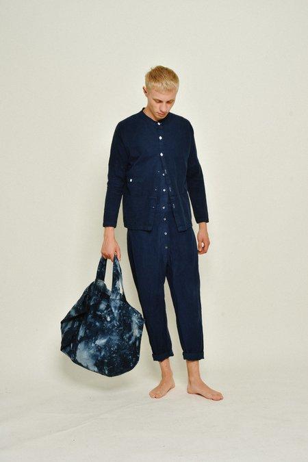 Unisex SEEKER Jumpsuit - Black Indigo Tie Dye