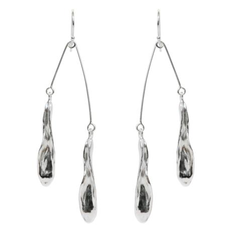 Amanda Hunt Flora Hook Mobile Earrings - Silver