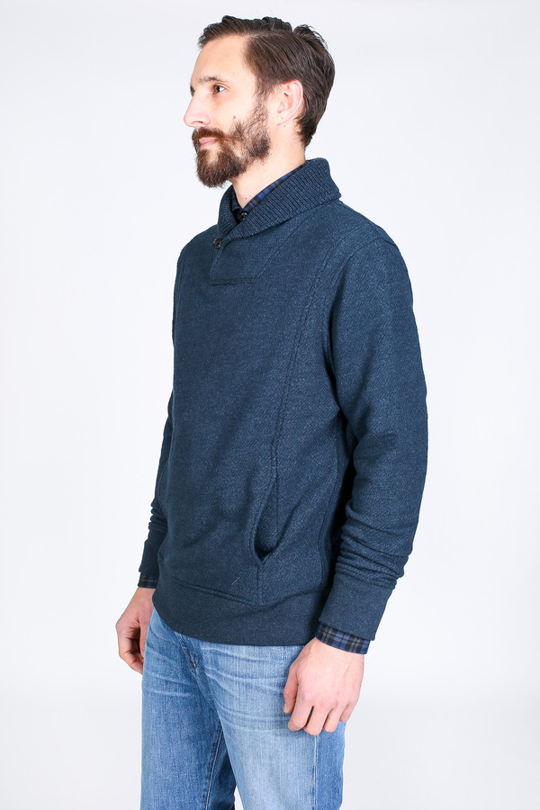 Men's Billy Reid Trevor Shawl Pullover in Midnight